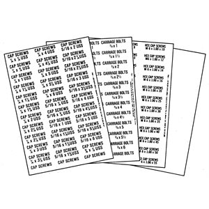 DISC- MISCELLANEOUS FASTENER BIN LABELS