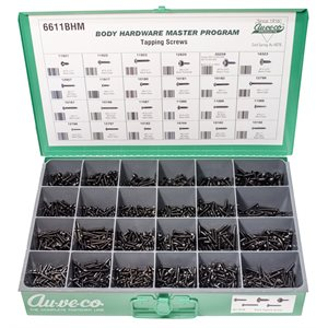 BHM ASST. (BLACK OVAL & PAN HD AND SPECIALTY TAPPING SCREWS)